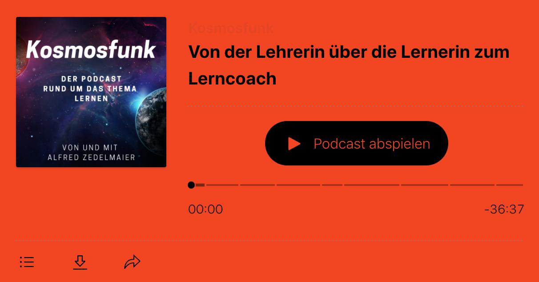Kosmosfunk Podcast Lernen